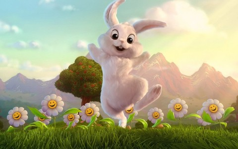 rabbit-3d-animals-wallpaper