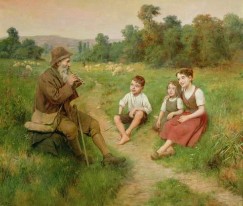 children-listen-to-a-shepherd-playing-a-flute-j-alsina