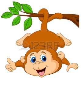 19119539-cute-monkey-cartoon-hanging-on-a-tree-branch-with-thumb-up