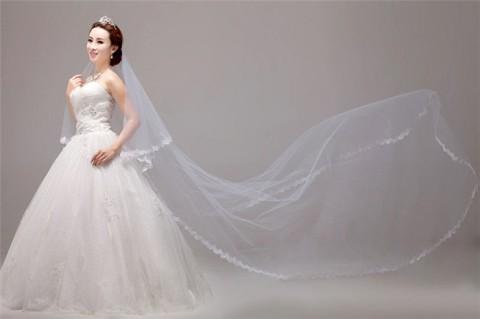 280cm-Long-Length-font-b-Ivory-b-font-Color-For-Brides-font-b-Mantilla-b-font